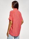 Блузка вискозная с завязками на воротнике oodji #SECTION_NAME# (розовый), 11405143/48458/4312O - вид 3