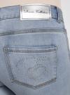 Капри джинсовые с потертостями oodji #SECTION_NAME# (синий), 12105016/45253/7000W - вид 5