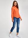 Рубашка хлопковая свободного силуэта oodji #SECTION_NAME# (оранжевый), 11411101B/45561/5500N - вид 6