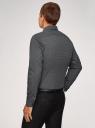 Рубашка хлопковая с нагрудным карманом oodji #SECTION_NAME# (серый), 3L110329M-1/44425N/2925G - вид 3