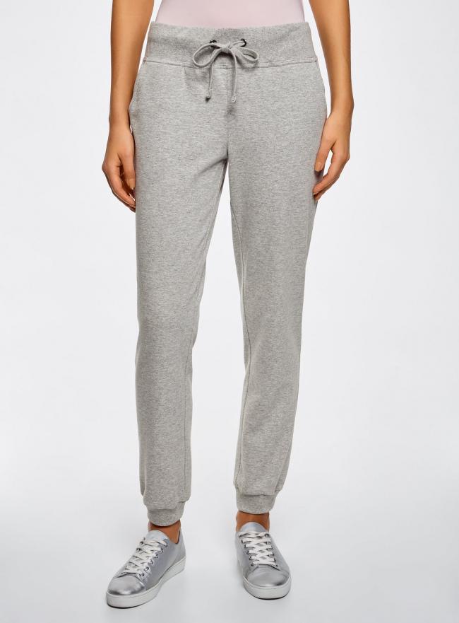 Комплект трикотажных брюк (2 пары) oodji #SECTION_NAME# (серый), 16700030-15T2/46173/2375N