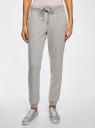 Комплект трикотажных брюк (2 пары) oodji #SECTION_NAME# (серый), 16700030-15T2/46173/2375N - вид 2