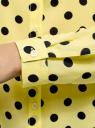 Блузка вискозная прямого силуэта oodji #SECTION_NAME# (желтый), 11411098-3/24681/5029D - вид 5