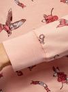 Свитшот принтованный с круглым вырезом oodji для женщины (розовый), 14807021-1/46919/5435O - вид 5