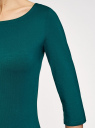Платье трикотажное базовое oodji #SECTION_NAME# (зеленый), 14001071-2B/46148/6E00N - вид 5