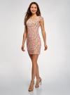Платье трикотажное с круглым вырезом oodji для женщины (розовый), 14008014-6B/46943/4312F - вид 6