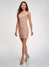 Платье трикотажное с круглым вырезом oodji #SECTION_NAME# (розовый), 14008014-6B/46943/4312F - вид 6