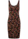 Платье-майка трикотажное oodji #SECTION_NAME# (черный), 14015007-3B/37809/2945E