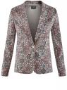 Жакет приталенный базовый oodji для женщины (розовый), 21203064-5B/14522/4175E