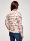 Куртка стеганая с круглым вырезом oodji для женщины (слоновая кость), 10204040-1B/42257/3041U - вид 3