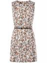 Платье льняное без рукавов oodji #SECTION_NAME# (белый), 12C00002-1B/16009/1231F