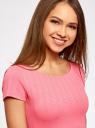 Платье приталенное с V-образным вырезом на спине oodji #SECTION_NAME# (розовый), 14011034B/42588/4D00N - вид 4