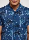 Рубашка принтованная с коротким рукавом oodji #SECTION_NAME# (синий), 3L410132M/19370N/7570G - вид 4