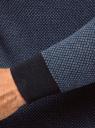 Свитер вязаный с высоким воротником oodji #SECTION_NAME# (синий), 4L312056M/25255N/7975J - вид 5