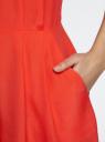 Комбинезон летний из вискозы oodji для женщины (красный), 12202002/42800/4500N