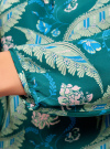 Блузка свободного кроя с вырезом-капелькой oodji #SECTION_NAME# (зеленый), 21400321-2/33116/6D33F - вид 5