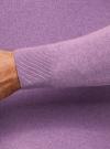 Пуловер базовый с V-образным вырезом oodji #SECTION_NAME# (фиолетовый), 4B212007M-1/34390N/8001M - вид 5