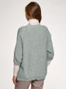 Кардиган меланжевый без застежки oodji для женщины (зеленый), 63205251/18369/6012M