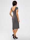 Платье миди с вырезом на спине oodji для женщины (серый), 24001104-5B/47420/2500M - вид 3