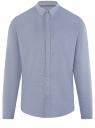 Рубашка приталенная с длинным рукавом oodji #SECTION_NAME# (синий), 3B110011M/34714N/7500N