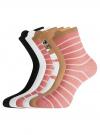 Комплект хлопковых носков (6 пар) oodji для женщины (разноцветный), 57102802T6/47469/21 - вид 2