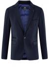 Пиджак приталенного силуэта на пуговице oodji #SECTION_NAME# (синий), 2L410201M/47076N/7900O