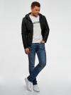 Куртка стеганая с капюшоном oodji #SECTION_NAME# (черный), 1B112007M/46376N/2900N - вид 6