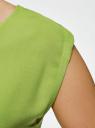Платье вискозное без рукавов oodji #SECTION_NAME# (зеленый), 11910073B/26346/6B00N - вид 5
