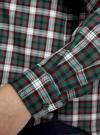 Рубашка в клетку с карманами oodji #SECTION_NAME# (зеленый), 11400433-1/43223/6E12C - вид 5