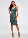 Платье-майка трикотажное oodji #SECTION_NAME# (зеленый), 14015007-3B/37809/6912E - вид 2