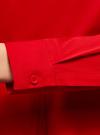 Блузка с баской и декором на воротнике  oodji #SECTION_NAME# (красный), 13K00001-2B/42083/4500N - вид 5