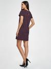 Платье прямого силуэта с рукавом реглан oodji #SECTION_NAME# (фиолетовый), 11914003/46048/4D29E - вид 3