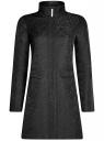 Пальто прямого силуэта из фактурной ткани oodji #SECTION_NAME# (черный), 10104043/43312/2900N