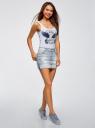 Юбка джинсовая с потертостями oodji для женщины (синий), 11510004/45369/7000W
