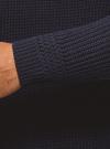Свитер в рубчик с высоким воротом oodji #SECTION_NAME# (синий), 4L307010M/47211N/7900M - вид 5