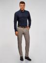 Рубашка приталенная с контрастной отделкой oodji для мужчины (синий), 3B140006M/34146N/7929B