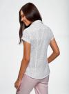 Рубашка из хлопка принтованная oodji #SECTION_NAME# (белый), 11402084-3/12836/1029D - вид 3