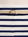 Шорты хлопковые с ремнем oodji для женщины (синий), 11800038/45256/1279S
