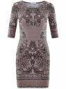 Платье трикотажное облегающего силуэта oodji #SECTION_NAME# (розовый), 14001121-4B/46943/4125E