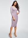 Платье облегающее с вырезом-лодочкой oodji #SECTION_NAME# (фиолетовый), 14017001-6B/47420/8000M - вид 6
