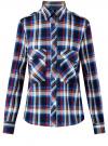 Рубашка с нагрудными карманами oodji #SECTION_NAME# (синий), 13L11006-1B/42850/7945C