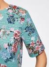 Платье из фактурной ткани прямого силуэта oodji #SECTION_NAME# (зеленый), 24001110-3/42316/6519F - вид 5