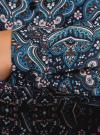 Блузка вискозная прямого силуэта oodji #SECTION_NAME# (синий), 11411098-3/24681/7919E - вид 5