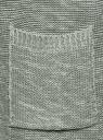 Кардиган удлиненный с карманами oodji для женщины (зеленый), 63205246/31347/6010M