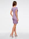 Платье из фактурной ткани с вырезом-лодочкой oodji #SECTION_NAME# (фиолетовый), 14001117-11B/45211/8000N - вид 3