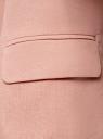 Жакет льняной приталенный oodji для женщины (розовый), 11212018B/16009/4B00N