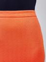 Юбка-карандаш из фактурной ткани oodji #SECTION_NAME# (оранжевый), 14101088-1/42588/5500N - вид 5