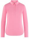 Рубашка базовая с нагрудными карманами oodji #SECTION_NAME# (розовый), 11403222B/42468/4100N