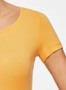 Футболка базовая приталенная oodji для женщины (желтый), 14701005-7B/46147/5200N