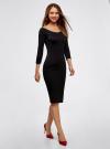 Платье облегающее с вырезом-лодочкой oodji #SECTION_NAME# (черный), 14017001-5B/46944/2900N - вид 6